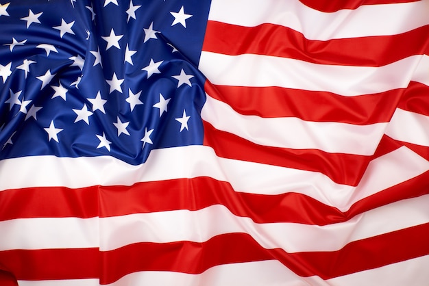National textile flag of united states of america background