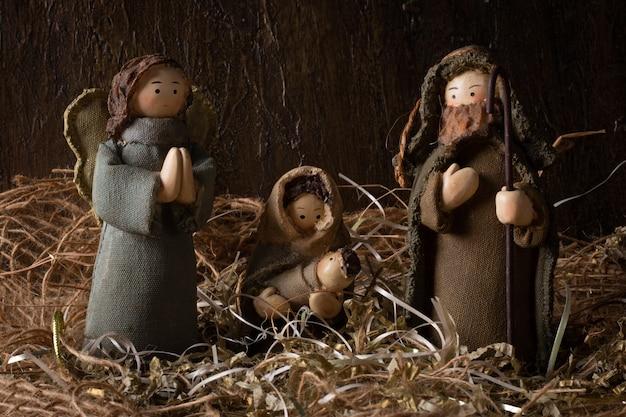 Nativity scene. traditional christmas scene.