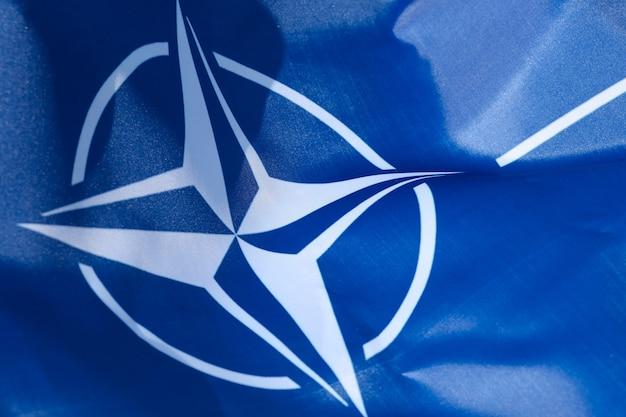 Natoシルクフラッグのクローズアップ