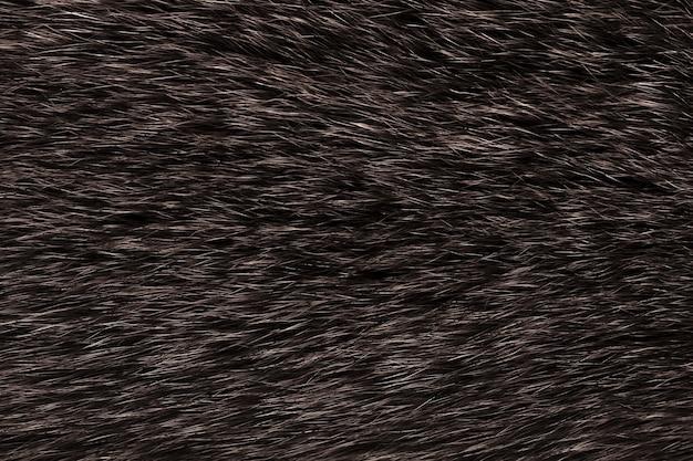 自然な動物の毛皮のダークブラウンの背景