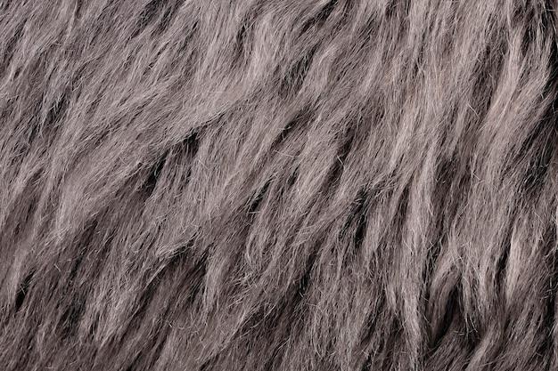 自然な動物の毛皮灰色茶色の背景