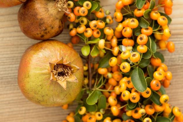 Natural autumn elements for decoration