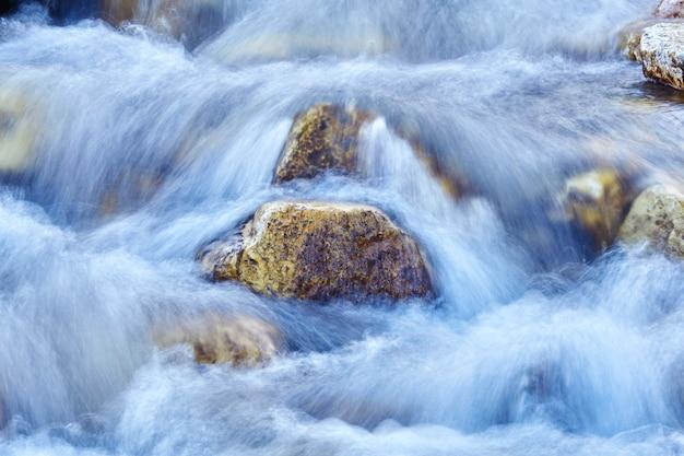 自然の背景-滝の断片、ウォータージェットは動きがぼやけています