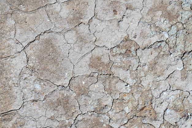 火山性の土地の乾燥したひびの入った表面の自然な背景が砂漠に変わった