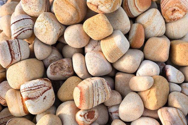 自然な背景や質感。装飾や造園のための大理石の小石。