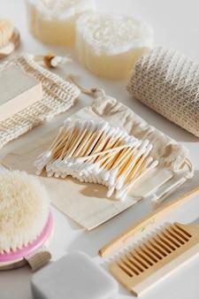 에코 욕실 액세서리, 화장품 및 도구가 포함된 천연 대나무 귀 스틱