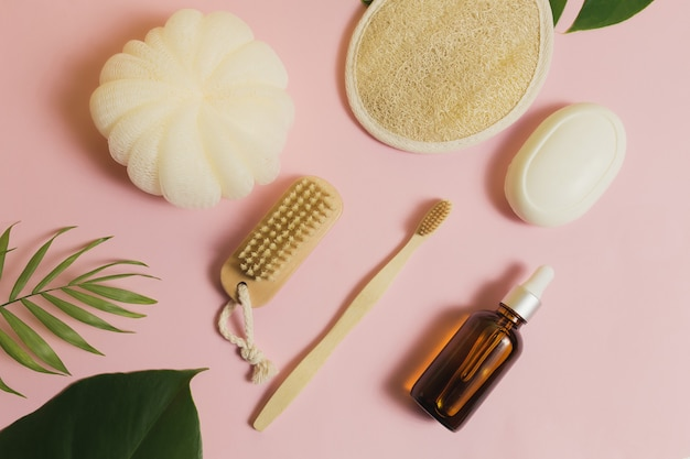 천연 목욕 용품, 천연 목욕 용품 세트, 친환경 제품.