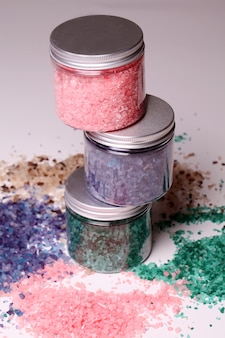 Natural bath salt in a boxes