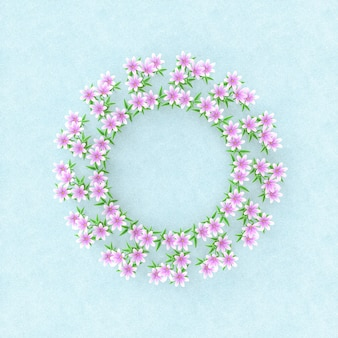 Natural beauty 3d podium with spring flowers.