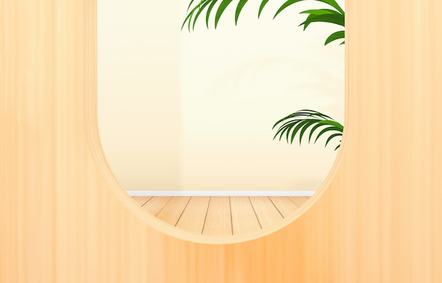 Natural beauty background for cosmetic product display. fashion beauty with wooden background.