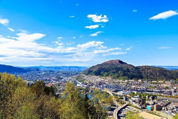 Natural beauty of the norwegian city of bergen