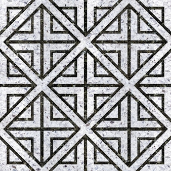 Natural black and white marble tiles. geometric pattern