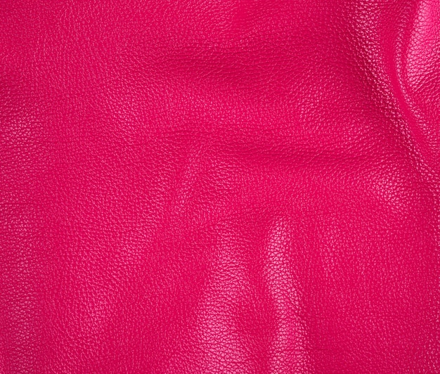 Natural bright pink cowhide texture