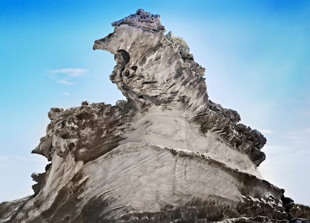 Natural cliff formation