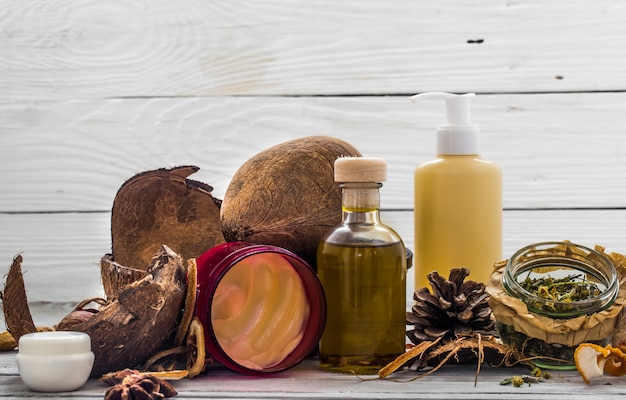 Natural cosmetics, environmentally friendly product, aromatic cream and oil