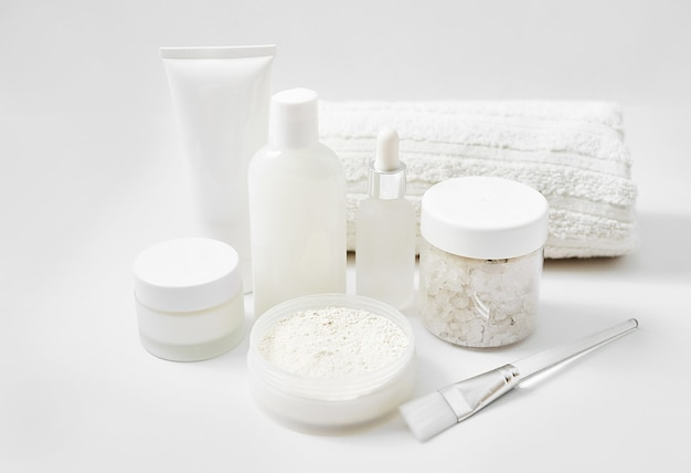 Natural cosmetics ingredients for skincare, body and hair care