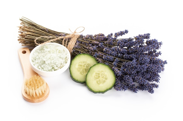 Natural cosmetics with lavender