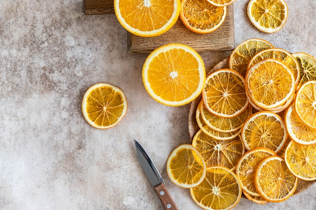 天然乾燥オレンジスライスして乾燥した柑橘系の果物