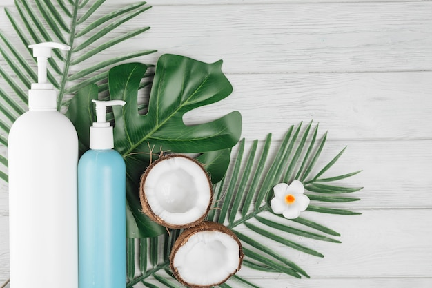 Natural elements for spa with beauty cream
