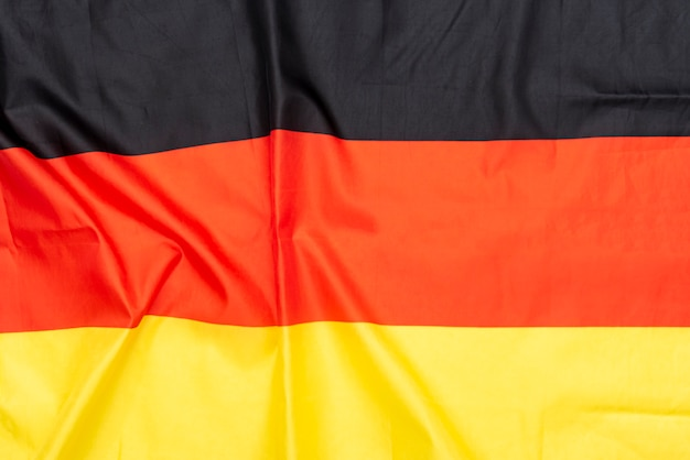 Natural fabric crumpled flag of germany or german flag