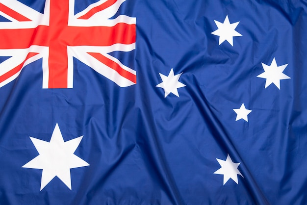 Natural fabric flag of australia