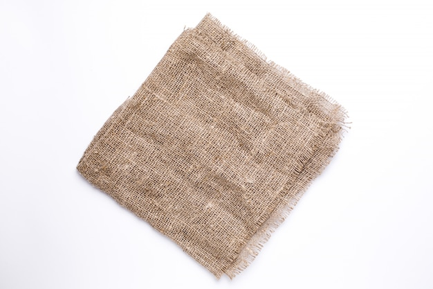 Natural fabric linen texture background top view
