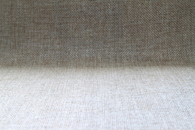 Natural fabric linen texture design. sackcloth textured. brown canvas background. cotton.