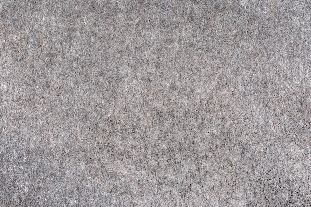 Natural felt of gray color as an abstract background the texture and pattern of the material