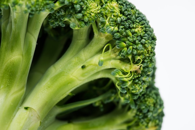 Natural fresh organic broccoli isolated on background