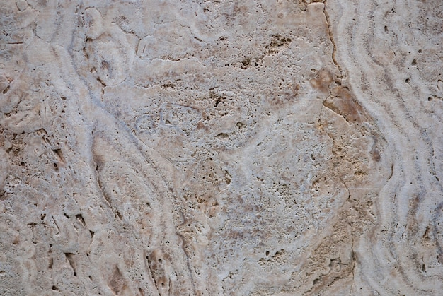 Натуральный пресноводный известняк (травертин, итальянский полосчатый мрамор, известковый туф) текстура