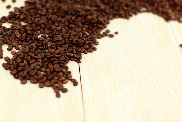 Natural grain of coffee