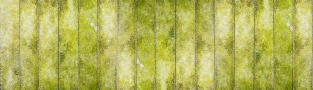 自然な緑の木製テーブルテクスチャ背景