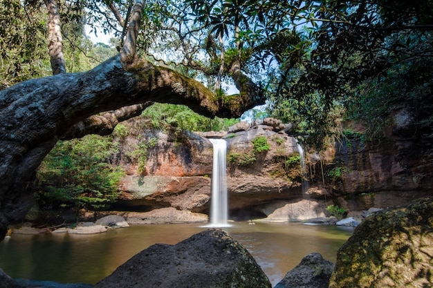 Natural haew suwat waterfall