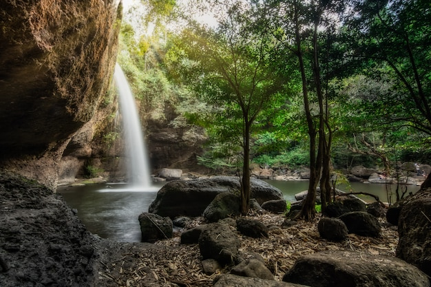 Natural haew suwat waterfall