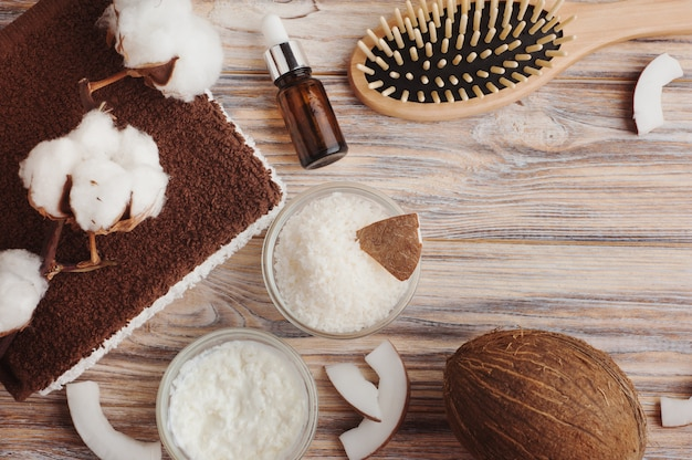 Natural hair treatment with coconut