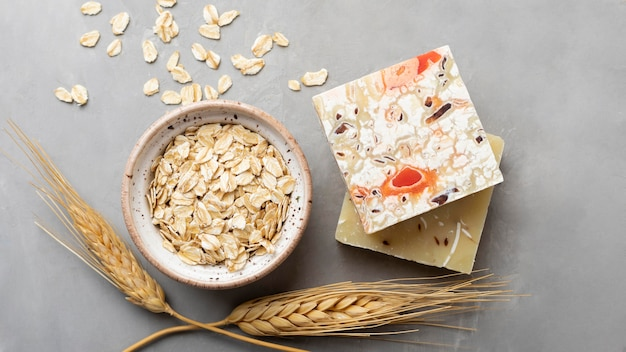 Natural handmade soap from cereals
