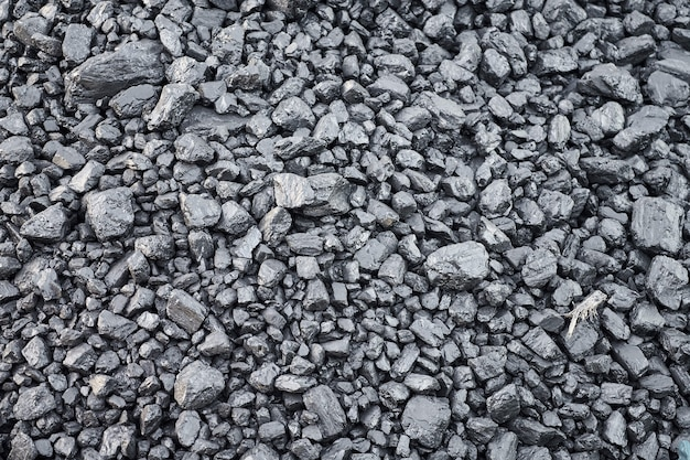 Natural hard coal texture for background. coal industry