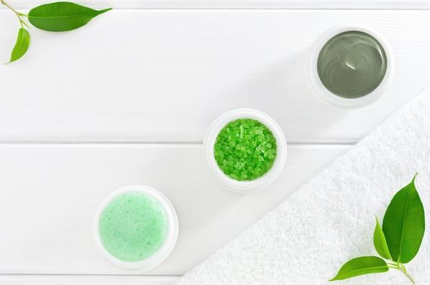 自然なハーブの化粧品またはspa製品。