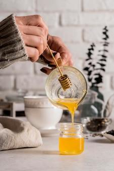 Natural honey for tea