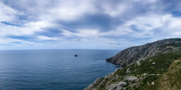 Natural landscape in the coast of galicia in spain