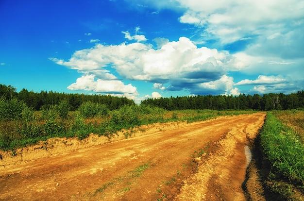 ロシアの早春の自然景観