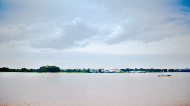 Natural landscape of maekhong river