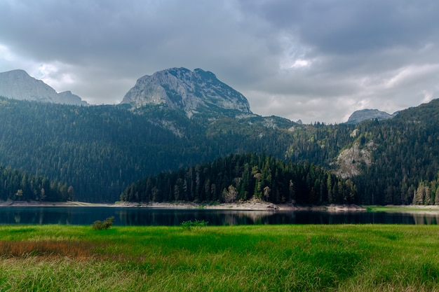 Natural landscape. mountain lake, montenegro, durmitor national park