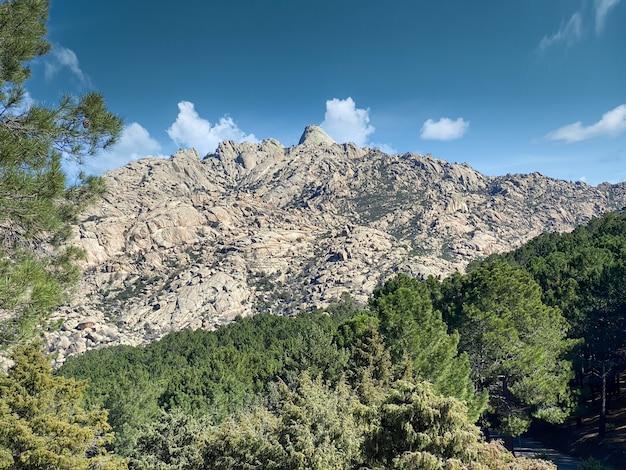Natural landscape of the sierra de guadarrama park, madrid