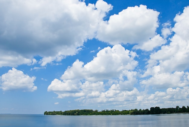 Natural landscape with cloudy sky