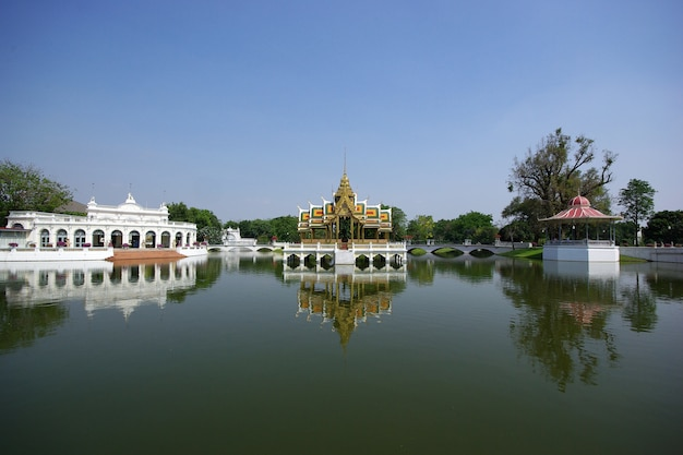 Natural landscape with thai palace