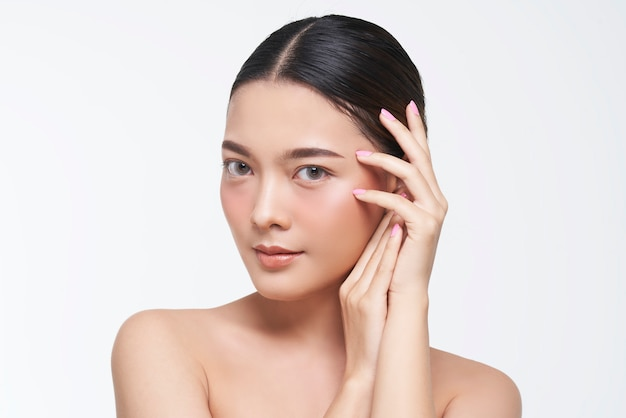 Natural look, asian woman, facial treatment , cosmetology, beauty treatment.