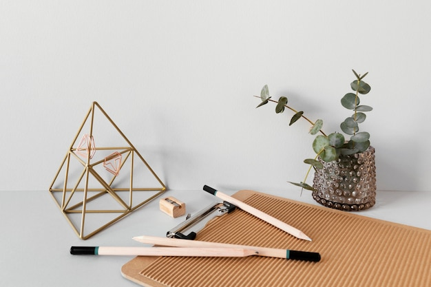 Natural material stationery assortment