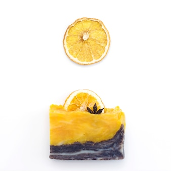 Natural orange handmade soap