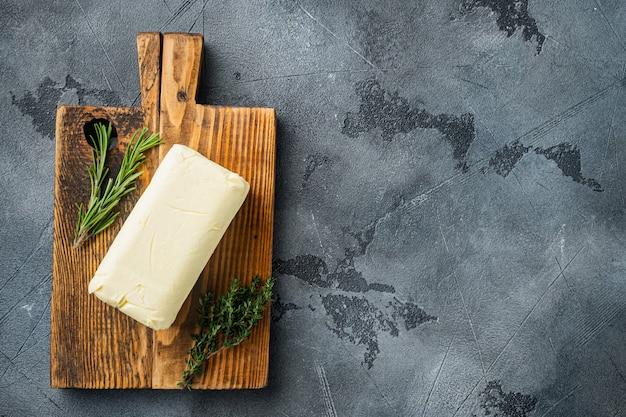 천연 유기농 버터 평면도 평면 누워